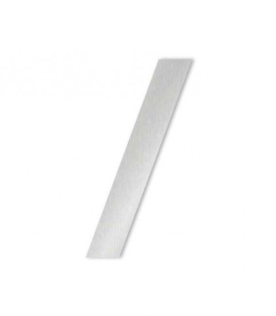 Stainless steel house number MIDI slash for sticking