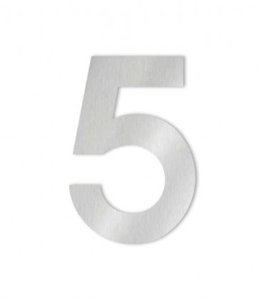 Stainless steel house number MIDI 5