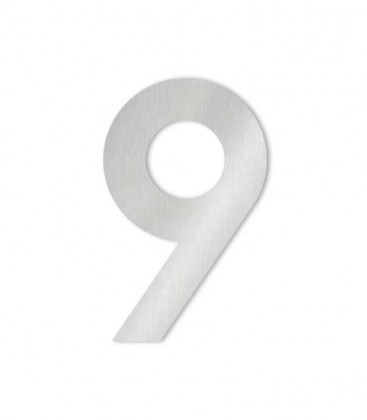 Stainless steel house number MIDI 9