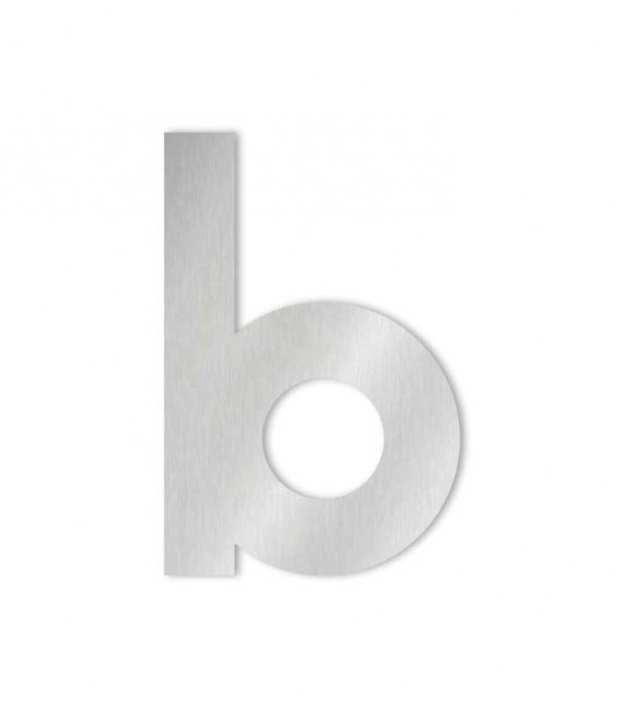 Stainless steel house number MIDI letter b
