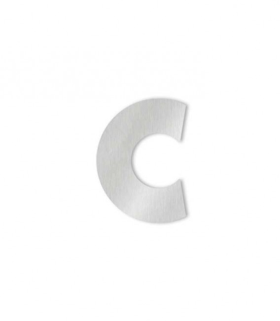 Stainless steel house number MIDI letter c