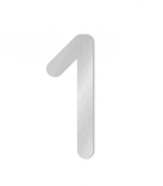 Stainless steel house number COLU 1 for sticking