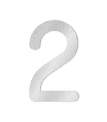 Stainless steel house number COLU 2 for sticking