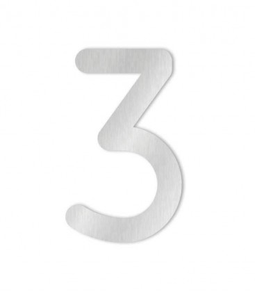 Stainless steel house number COLU 3 for sticking