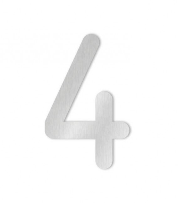 Stainless steel house number COLU 4 for sticking