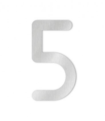 Stainless steel house number COLU 5 for sticking