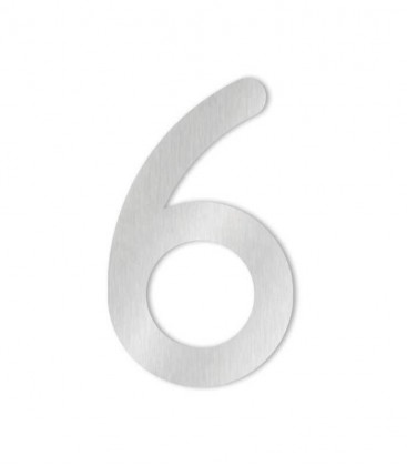 Stainless steel house number COLU 6 for sticking