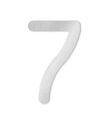 Stainless steel house number COLU 7 for sticking