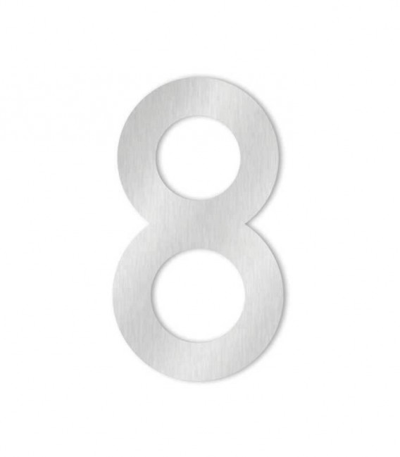 Stainless steel house number COLU 8 for sticking