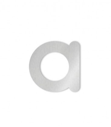 Stainless steel house number COLU letter a for sticking