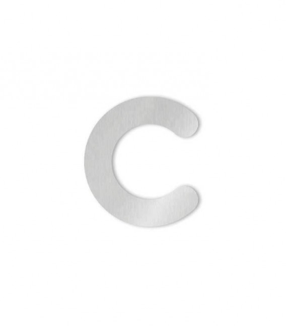 Stainless steel house number COLU letter c for sticking