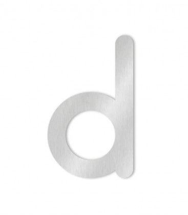 Stainless steel house number COLU letter d for sticking