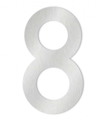 Stainless steel house number MAX-XXL 8