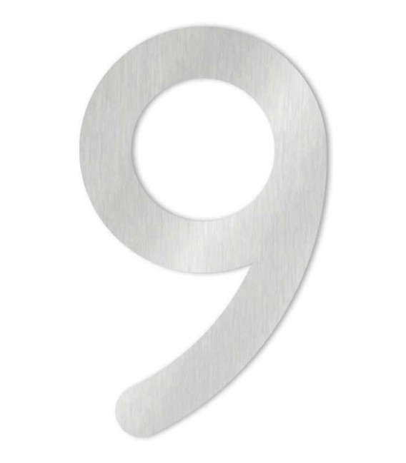 Stainless steel house number MAX-XXL 9