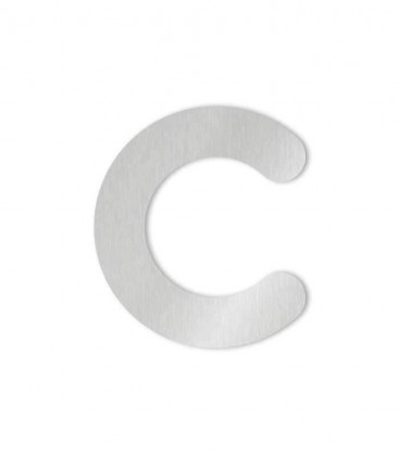 Stainless steel house number MAX-XXL letter c