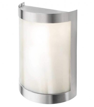 Half cylinder wall light, stainless steel