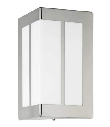 Outdoor wall light with border, stainless steel