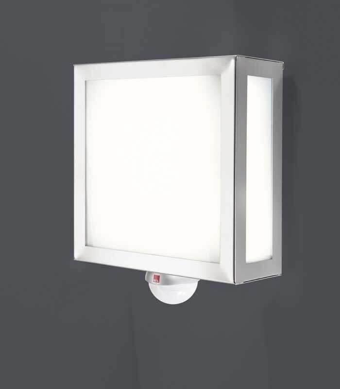 Square Outdoor Wall Light With Sensor Stainless Steel