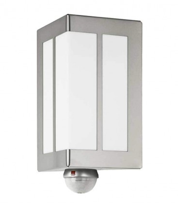 Outdoor wall light with border & sensor, stainless steel