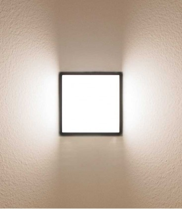 Square LED outdoor wall light, graphite