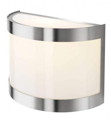 Outdoor half cylinder wall light INSA, stainless steel