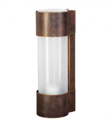 Cylinder outdoor wall light NEPTO, H 31 cm, brown-gold