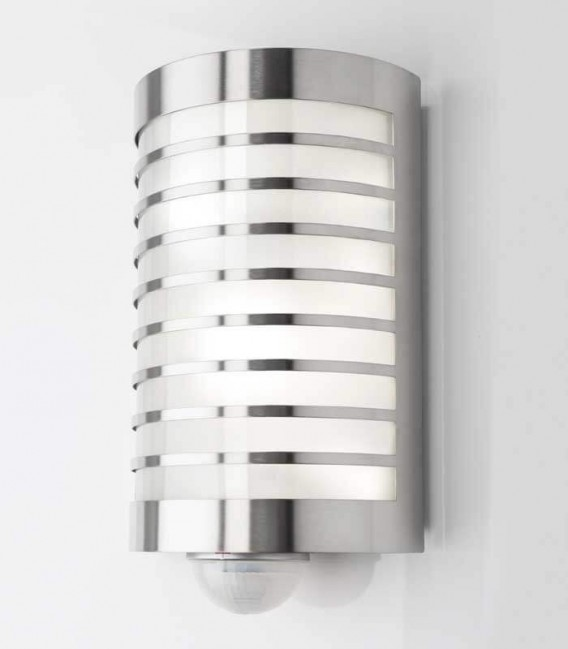 Half cylinder wall light TERU with sensor, stainless steel