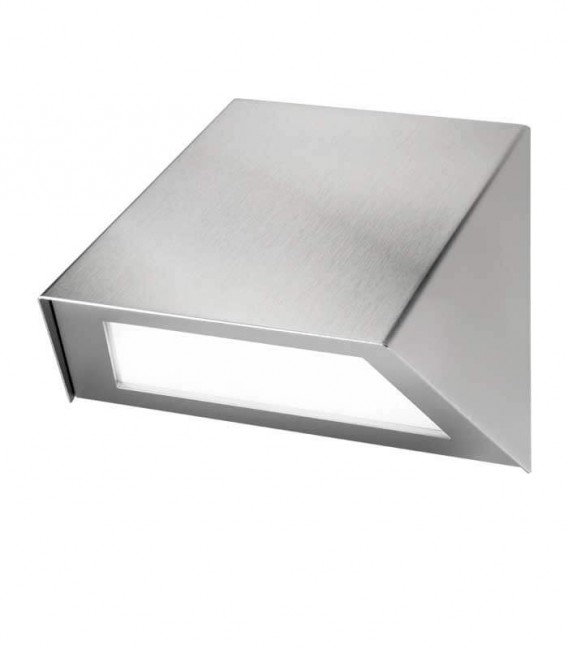 LED outdoor wall light RUMBA, stainless steel