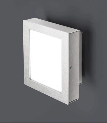 LED wall & ceiling light STRALUX, stainless steel