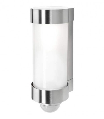 Outdoor wall light MIDUX with sensor, stainless steel