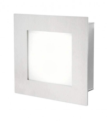 LED wall & ceiling light LAXU, stainless steel, 3000 K