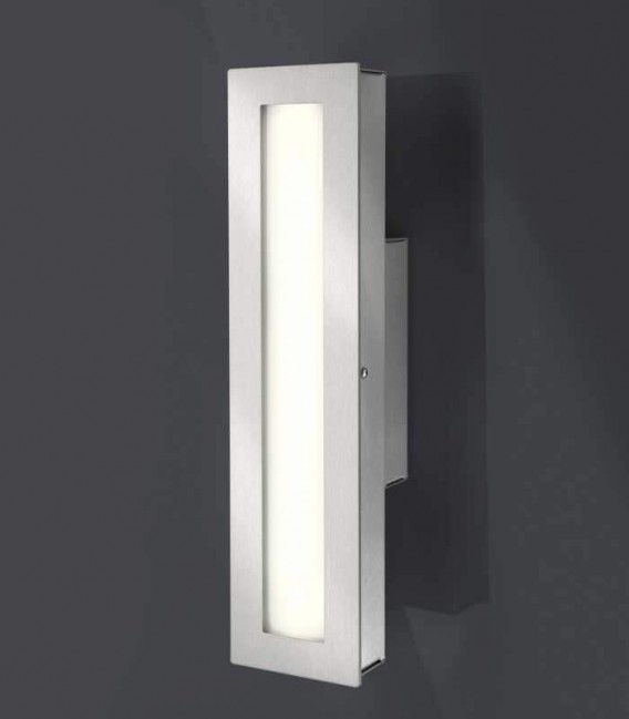LED outdoor wall light CENIA, stainless steel, 3000 K