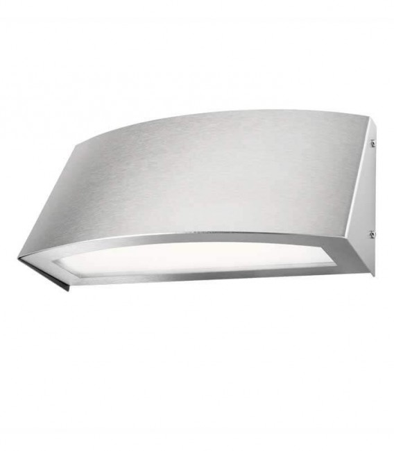 LED outdoor wall light TOPO, stainless steel, 3000 K