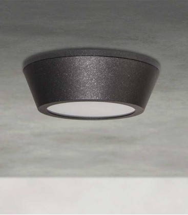 LED wall & ceiling light AARATI, graphite