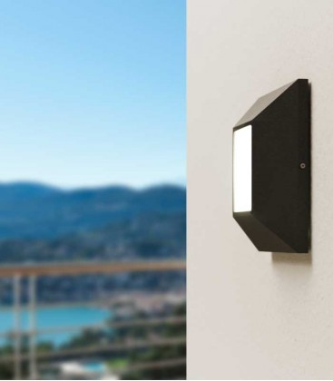 Graphite LED wall & ceiling light AKARI
