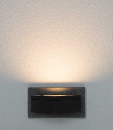Graphite LED outdoor wall light LUCINDA