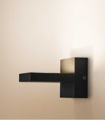 LED outdoor wall light NORA, graphite