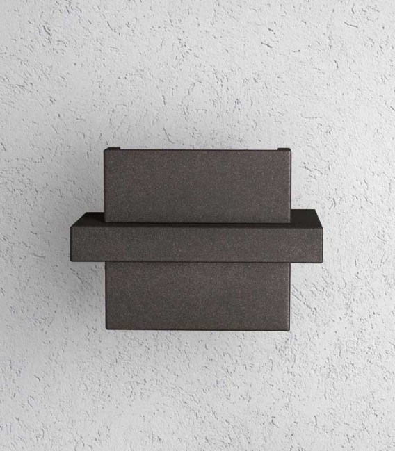 Graphite LED outdoor wall light DIA