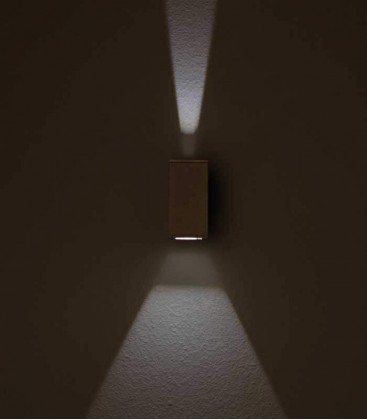 LED outdoor wall light NAIRA, wide-narrow, graphite