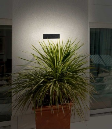 LED outdoor wall light BALKI, graphite