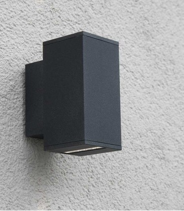 Graphite LED outdoor wall light NAIRA, narrow