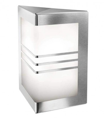 Outdoor wall light MEDI, stainless steel