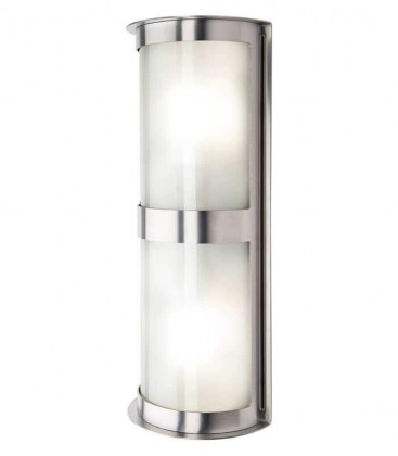 Outdoor wall light TWINTA, stainless steel