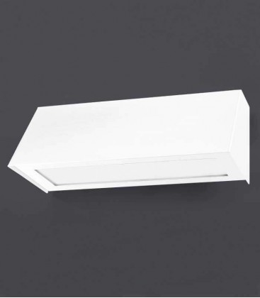 White outdoor wall light STELLA