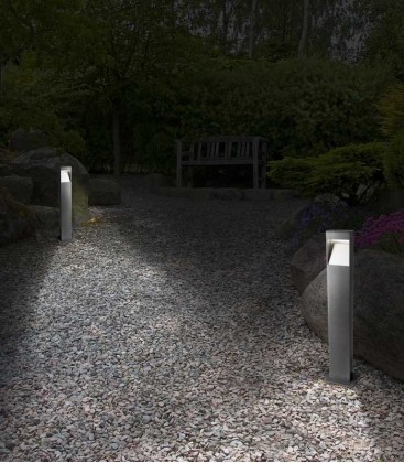 Grey LED path lighting STRATO, H 71 cm