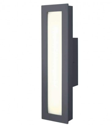 Grey LED outdoor wall light MINUX, 4000 K