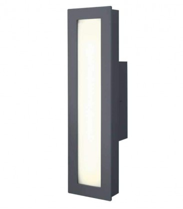 Grey LED outdoor wall light MINUX, 3000 K