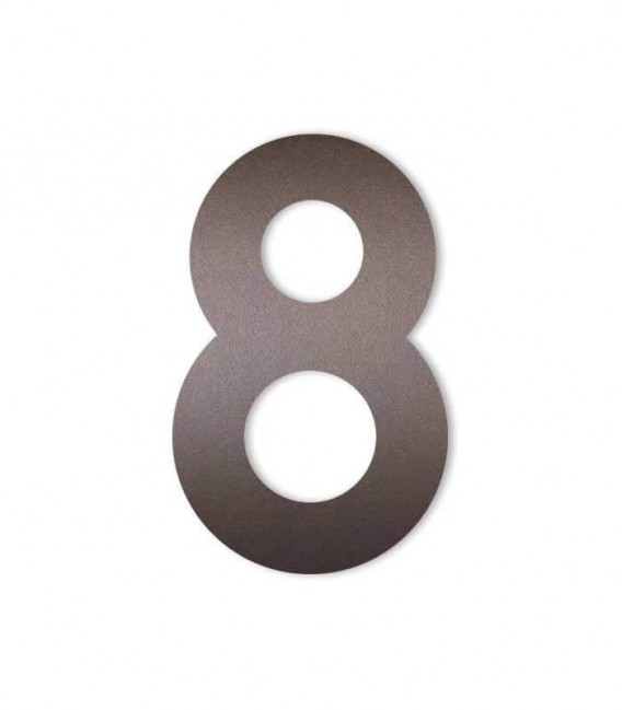 Brown house number MIDI 8