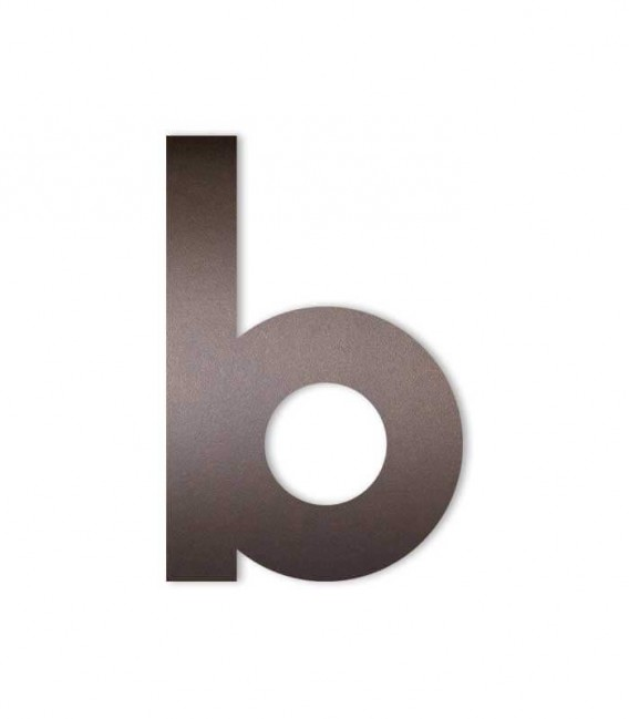 Brown house number MIDI letter b