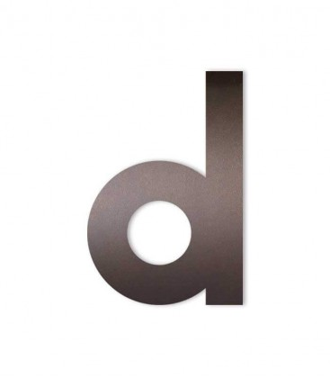 Brown house number MIDI letter d